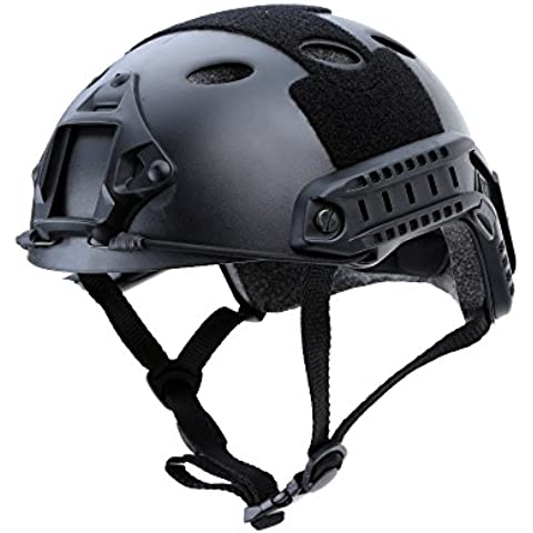 Wrone (TM) 3 colores en el exterior del casco militar t¨¢ctico al aire libre Casco CS Paintball Airsoft salto de la base del casco protector