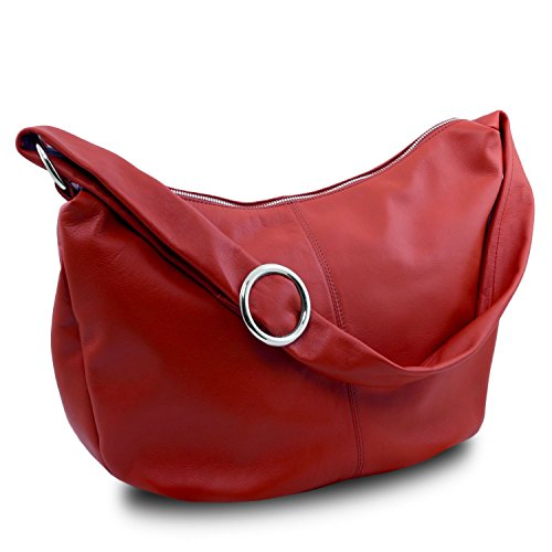 Tuscany Leather Yvette Borsa in pelle da donna Nero Rosso