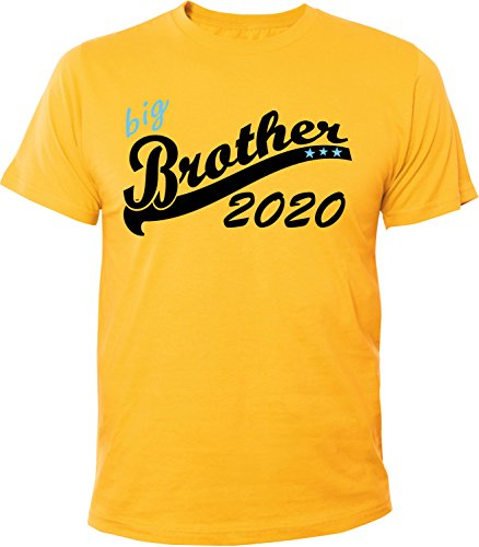 Mister Merchandise Herren Men T-Shirt Big Brother 2020 Tee Shirt bedruckt Gelb