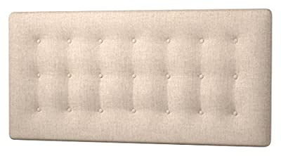 Happy Beds Cornell Buttoned Headboard, Fabric, Beige Cream Cotton, 5 ft, King Size - low-cost UK light store.