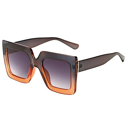 Battnot☀ Sonnenbrille für Damen Herren, Oversized Übergroße Unisex Vintage Rahmen Quadratische Form Mode Anti-UV Gläser Schutzbrillen Männer Frauen Retro Billig Sunglasses Women Eyewear Eyeglasses