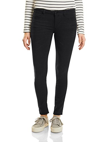 Street One Damen Hose 371084 York Skinny Schwarz (Black 10001), 44/L30 (Herstellergröße: 44)