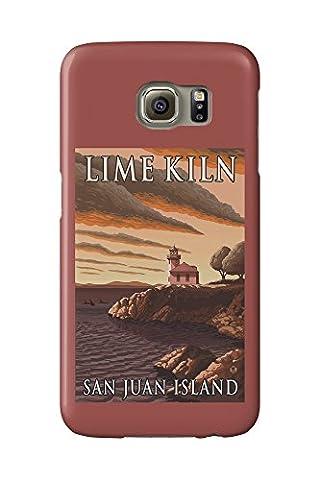 San Juan Island, Washington - Lime Kiln Lighthouse (Galaxy S6 Cell Phone Case, Slim Barely There)