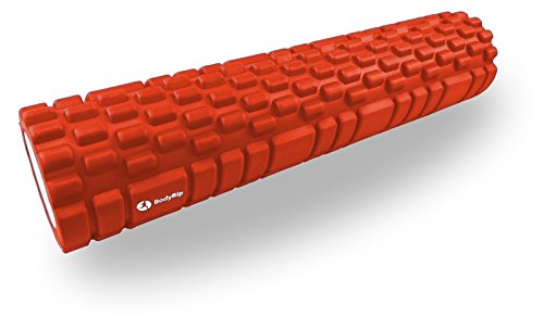 BodyRip Rouleau de massage Grille 62 cm Orange pour s'étirer fitness