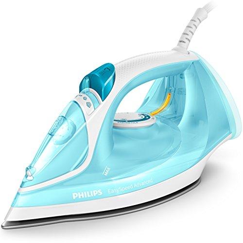 PHILIPS Plancha de Vapor GC2670/20 Color Turquesa, 2300W, Suela Cerámica, 2300 W, 0.3 litros, Azul, Blanco