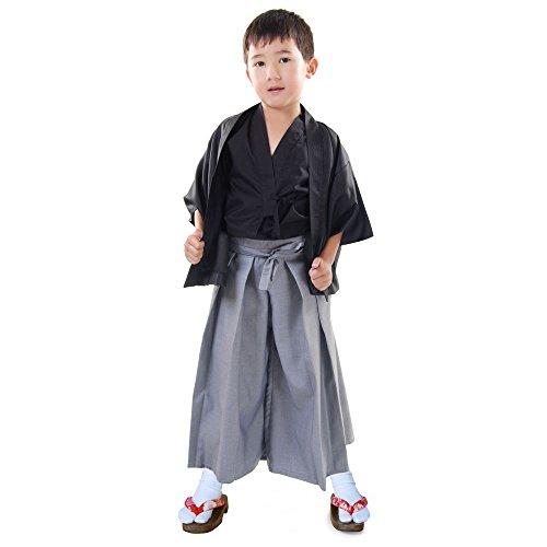 Japan Jungen Samurai Kendo Gi + Hakama + Haori Set 3-tlg Kinder Kostüm Kimono Faschingskostüm