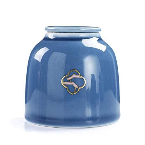 BUDIAN Tea Leaf CanVintage Multi-Colored Tea Caddies Ceramic Storage Boxes Tea Leaves Container Ceramic Organizer Home Teahouse Dining Tea Can 2