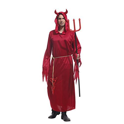 HalloweenHalloween Kostüme Erwachsene Männer Mit Kapuze Evil Red Demon Devil Kostüm Uniform Robe Phantasie Cosplay Kleidung für - Weibliche Red Devil Kostüm