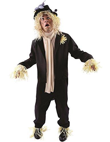 Vogelscheuche Kostüme (Sprechende Vogelscheuche Kostüm Karneval Fasching Herren Verkleidung Extra)