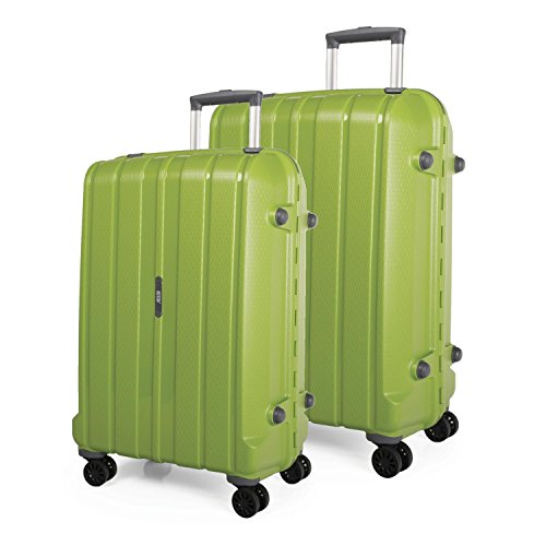 Set 2 trolley grandes modelo Munich - Verde