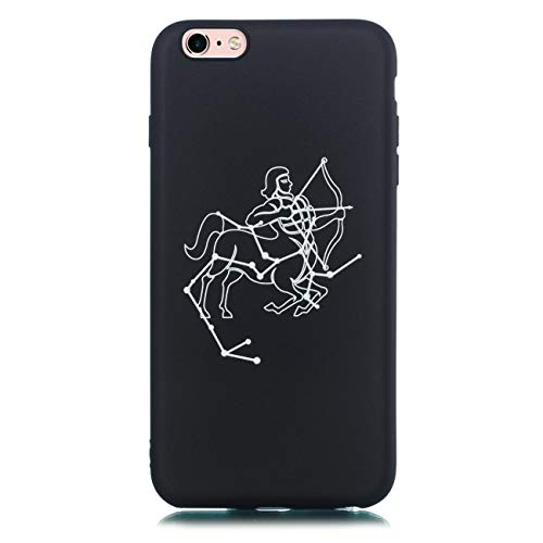 Chreey Hülle für iPhone 6 Plus / 6S Plus, Anti-kratzt Schwarz 3D Drucken Muster Handyhülle Weiche Silikon TPU Rückseitehülle Bumper Schutzhülle, Schütze