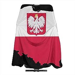 Poland Map Flag Hair Salon Cape Haircut Apron Barber Cape Hair Cutting Gown