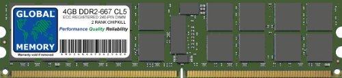 Pc2-5300 240-pin Ecc Registered (4GB DDR2667MHz PC2–5300240-PIN ECC REGISTERED DIMM (RDIMM) Arbeitsspeicher für Servers/WORKSTATIONS/MAINBOARDS (2, Rank Chipkill,))
