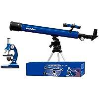 Pentaflex Serie OBSERVA - Telescopio + Microscopio - Telescopio Astronómico/Terrestre - Microscopio hasta 900 aumentos con luz.