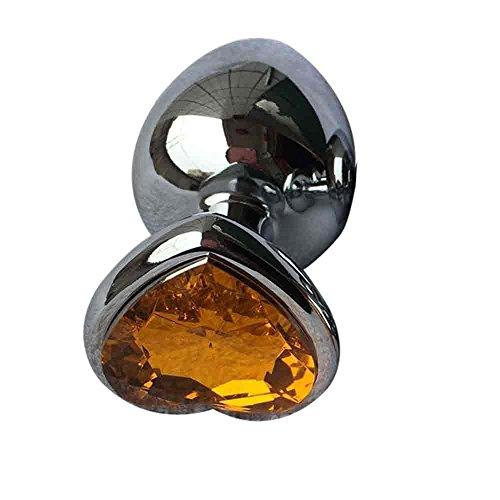 Sexuales Consoladores Estimulador Berg Crystal Silver Color Metal Backyard Conector De Acero Inoxidable Plug Hitch (Naranja)