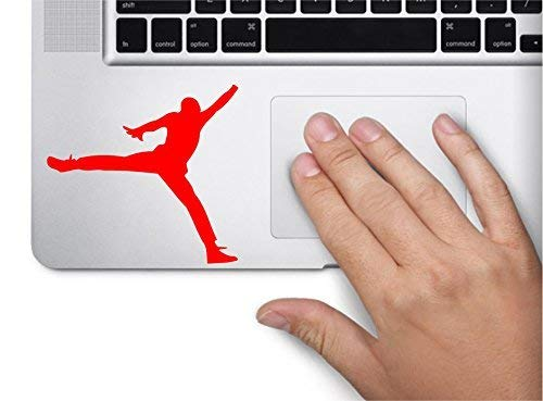 Jumping Basketball Player Symbol Decal Funny Laptop Skin Macbook Trackpad Keypad Sticker Window, Decal Sticker Vinyl Car Home Truck Window Laptop ca. 20cm Aufkleber Autoaufkleber Wandtattoo