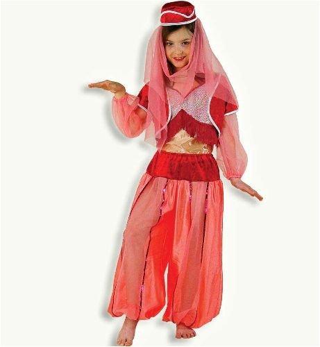 Genie Für Jungen Kostüm - Jeannie 3tlg m Kopfbedeckung Harem Dame 1001 Nacht Mädchen Kinder Kostüm Gr 128