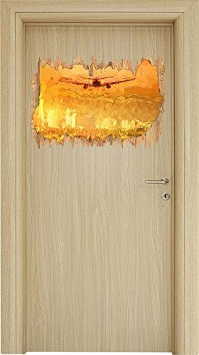 Preisvergleich Produktbild Urlaubsreise nach Las Vegas Kunst Pinsel Effekt Holzdurchbruch im 3D-Look , Wand- oder Türaufkleber Format: 62x42cm, Wandsticker, Wandtattoo, Wanddekoration