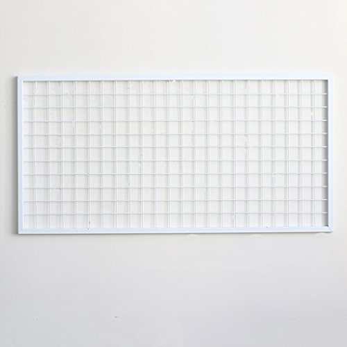DIY Gitter Foto Wand, Stacheldraht Foto Wand / Wand Kunst Ausstellung und Finishing, (60 * 120 Cm, weiß) ( Size : Grid photo wall )