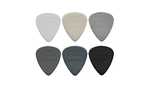 Plectren Dunlop Nylon Max Grip Set von 12 Stück Stärke 0,60 Gitarrenplectrum