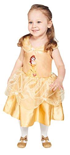 Confettery - Babys Belle Disney Kleid Karneval Kostüm , Gelb, Größe 80-86, 12-18 Monate