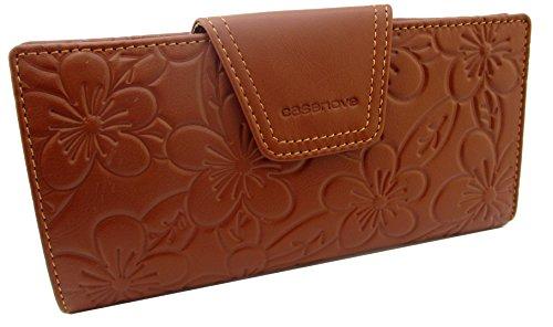 kissme-collection-fabrique-en-espagne-100-cuir-veritable-motif-de-fleurs-longchamp-marron
