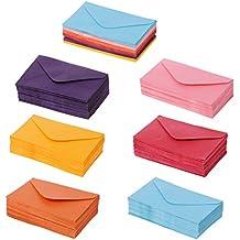 Manyo 50Pcs Rtro Papier Enveloppes Mini Color Mariage Fte Invitation Cartes De Voeux