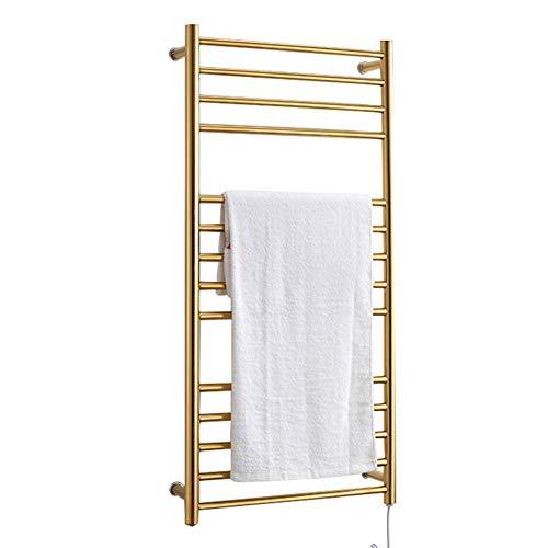 Edelstahl handtuchhalter, Wand elektrische handtuchhalter, elektrische handtuchhalter mit 14 stangen, wasserdicht, 160 watt, für Badezimmer, Gold (1100 * 520 * 125mm) -