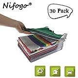 Nifogo Kleiderschrank Organizer, Kleidung Organisieren Klappbrett, Lazy Klappbrett, Faltbrett, T-Shirt Kleidung Ordner, Sparen Sie Raum Falten Prävention (30 Pack)