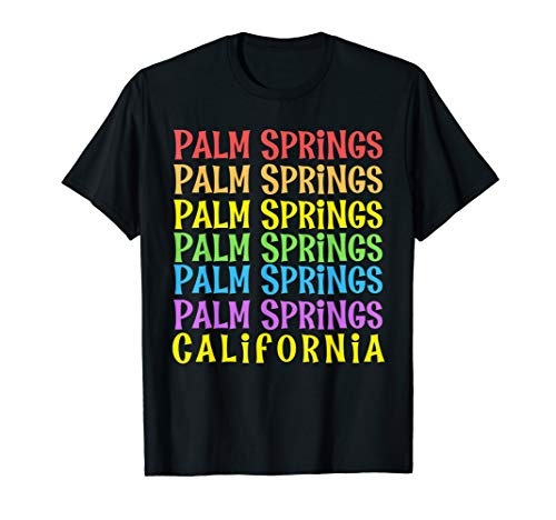 Palm Springs Repeated Gay Pride Pattern T-Shirt