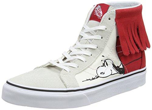 Vans Damen Peanuts Sk8-Hi Moc Laufschuhe Mehrfarbig (Dog House/bone Peanuts)