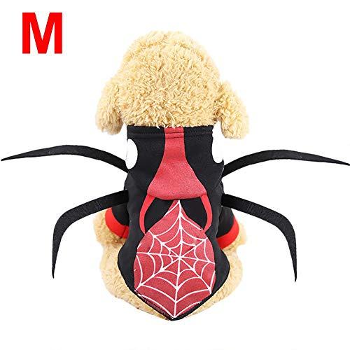 CARTEY Spider Pet Dog Halloween-Kostüm, Halloween-Haustierkleidung, Halloween-Spinnenkostüm Für Haustierkatzen Und -Hunde, Halloween-Haustier Gedrehte - Spider Dog Kostüm