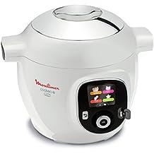 Moulinex Cookeo - Robot inteligente de cocina + USB con 150recetas (idioma español no garantizado), capacidad de 6 l, acabado cromado - YY2943FB