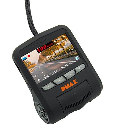 DMAX Full HD Dash-Kamera mit Fahrzeug Datenübertragung per OBD Anschluss, 1920x1080 Px Videoauflösung für Tages- / Nachtaufnahmen, 170° Erfassungswinkel und WiFi