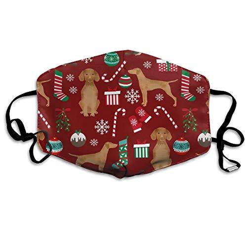 Vizsla Dog Christmas Print Christmas, Dog, Dogs, Dog Breed, Candy Cane, Presents Xmas Anti Dust Mask Anti Pollution Washable Reusable Mouth Masks