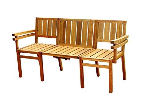 Eco Box Seattle Love Sitz Bench, Honig, 148,5x 55x 83cm (Lagerung Bench Amazon)
