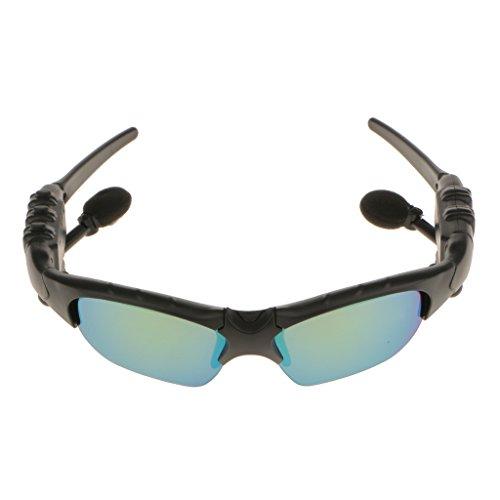 Drahtlose Bluetooth-Sonnenbrille Mit Freisprecheinrichtung Bluetooth 4.1 Headset mit Musik MP3 Handsfree Phone - Grün, 170 x 145 x 40mm