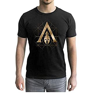 ABYstyle - Assassin's Creed - Tshirt - Crest Odyssey - Man MC Black (L)