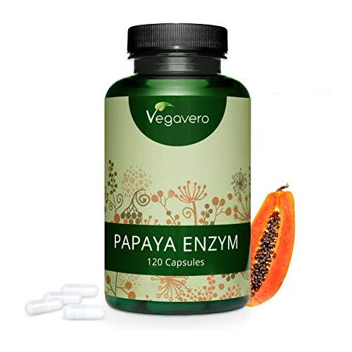 PAPAYA-Vegavero-120-capsule-Facilita-la-Digestione-Vincitrice-del-confronto-2019-con-PAPAINA-Enzima-della-Papaya-Vegan