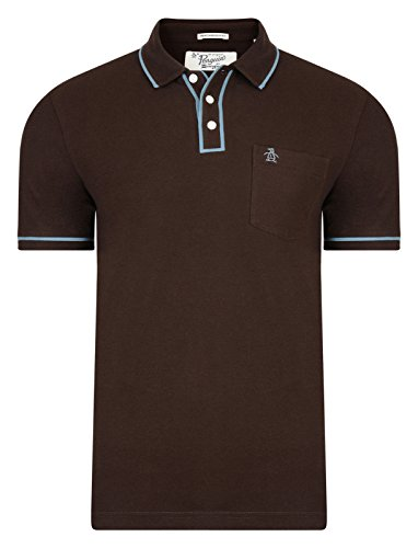original-penguin-earl-polo-homme-manches-courtes-cafe-bean-l
