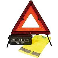 CORA 000126908 - Kit de seguridad de coche con triángulo de señalización y chaleco