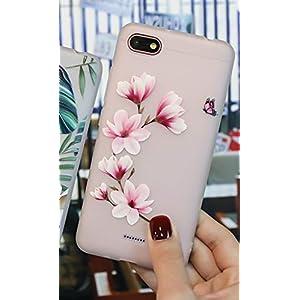 DMMDHR Para Redmi Note 5 X Pro Hülle Xiaomi Redmi 5A 5 Plus Silikontasche Hülle Blumenschutzhülle, Rosenblütenbuchstabe, Blumentyp 2, Nota 5A 16GB