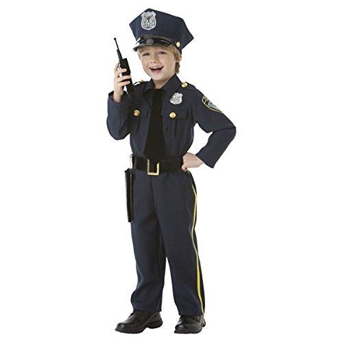 Police Officer-5-teiliges Kostüm-Set-Größe S (4-6)