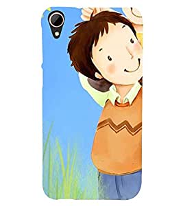 Printvisa Father Daughter In A Field Back Case Cover for HTC Desire 828
