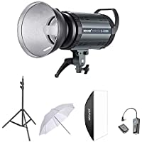 Neewer 400W Flash Estroboscópico Fotografía Iluminación Kit:(1)S-400N Monolight,(1)Reflector,(1)Difusor,(1)33 pulgadas Paraguas,(1)RT-16 Disparador Inalámbrico,(1)Soporte de Luz para Montura Bowens