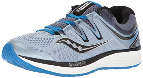Saucony Men Hurricane Iso 4 Stability Running Shoe Running Shoes Lightgrey - Blue 7