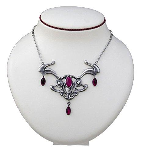 Dark Dreams Gothic Mittelalter Collier Schmuck Halskette Halsschmuck Anhänger Diondra , Farbe:rot
