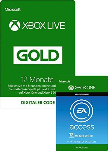 Preisvergleich Produktbild EA Access und Xbox Live Gold-Mitgliedschaft 12 Monate [Xbox Live Online Code]