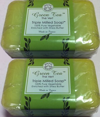 2-pack-green-tea-the-vert-triple-milled-soap-100-pure-vegetable-with-shea-butter-by-bisous-provence-