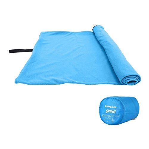 KingCamp Sac de Dormir Rectangulaire avec Glissière pour Camping et Randonnée, Confortable et Léger, Résistible à 15 Celsius, tissu très Résistante Très doux Polaire, 180 x 75 cm